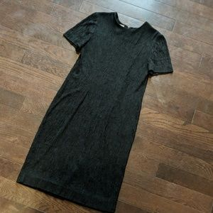Leslie Fay Vintage  Dress Classsic Black Sheath